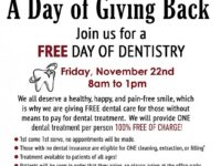 Free Dental Cleaning, Extractions or Fillings on November 22, 2019 Chandler AZ