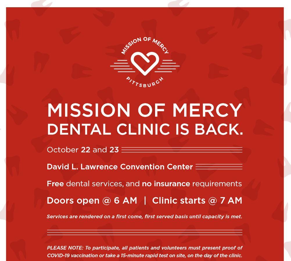 freee dental clinic Pittsburg. PA